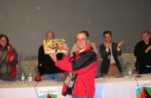 Recibiendo el premio JABALI SIERRA NORTE